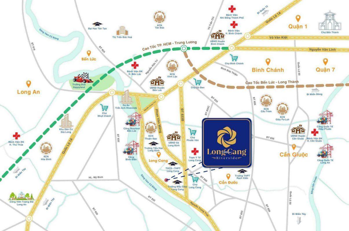 sơ đồ Vị Trí Dự Án Long Cang RiverPark
